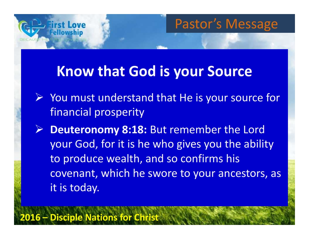 August 26, 2016 Unleasing Your Financial Breakthrough - By Ps Beng_002