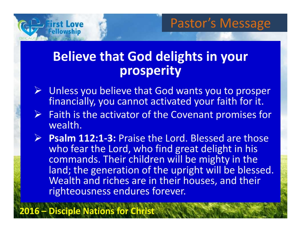 August 26, 2016 Unleasing Your Financial Breakthrough - By Ps Beng_004