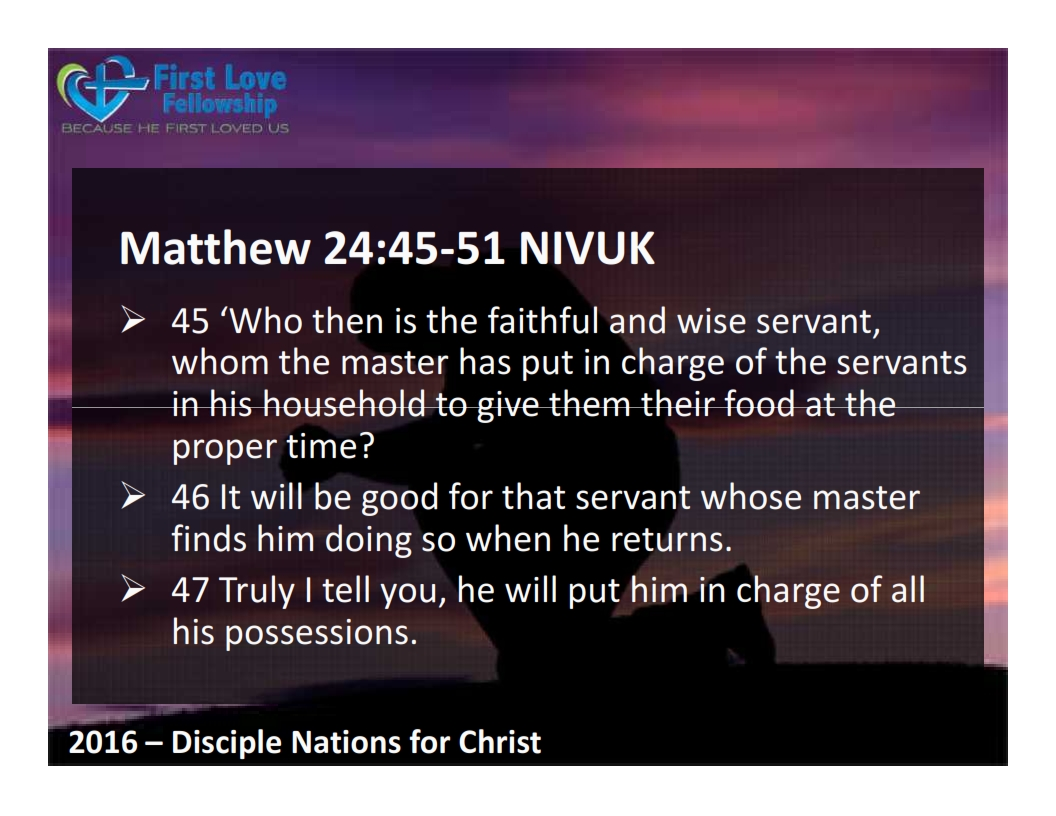 October 14, 2016 A Faithful and Wise Servant - by Ps Beng_002