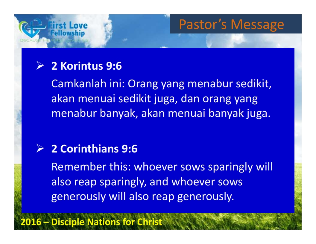 September 02, 2016 Faithful and Cheerful Giver - By Ps Beng and Lydia Dialdestoro_002