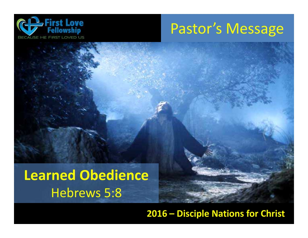 September 23, 2016 Learn to be obedient - By Ps Beng_001