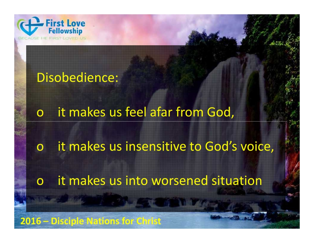 September 23, 2016 Learn to be obedient - By Ps Beng_004