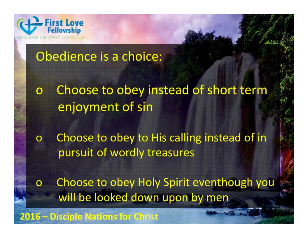 September 23, 2016 Learn to be obedient - By Ps Beng_005