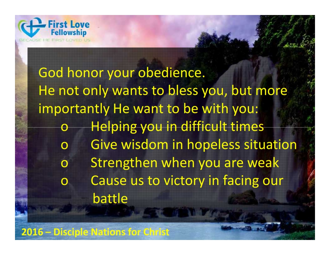September 23, 2016 Learn to be obedient - By Ps Beng_006