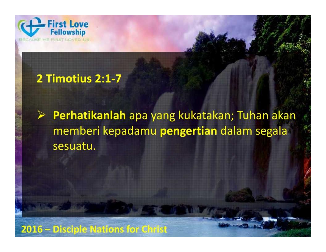 September 30, 2016 Ketaatan Selalu Membawa Berkat - Oleh Ps Beng_005